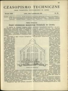 Czasopismo Techniczne : 1913 : nr 28