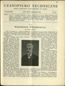 Czasopismo Techniczne : 1913 : nr 29