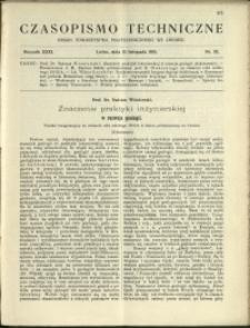 Czasopismo Techniczne : 1913 : nr 32