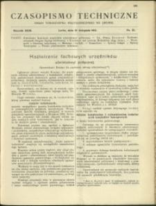 Czasopismo Techniczne : 1913 : nr 33