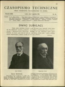 Czasopismo Techniczne : 1913 : nr 34