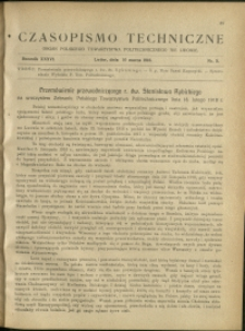 Czasopismo Techniczne : 1918 : nr 5