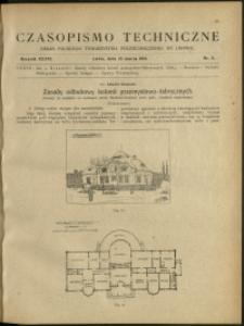 Czasopismo Techniczne : 1918 : nr 6