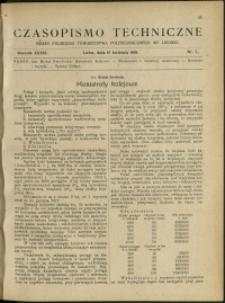 Czasopismo Techniczne : 1918 : nr 7