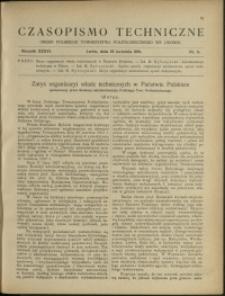 Czasopismo Techniczne : 1918 : nr 8