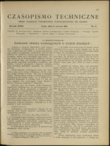 Czasopismo Techniczne : 1918 : nr 11