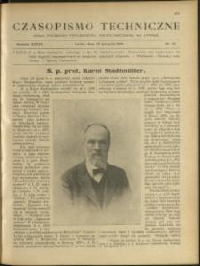 Czasopismo Techniczne : 1918 : nr 16