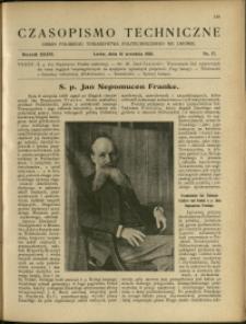 Czasopismo Techniczne : 1918 : nr 17