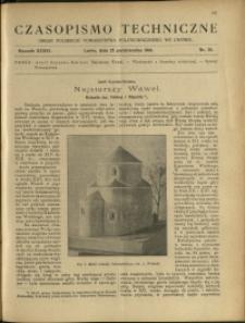 Czasopismo Techniczne : 1918 : nr 20