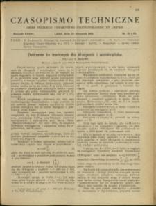 Czasopismo Techniczne : 1918 : nr 21 i 22