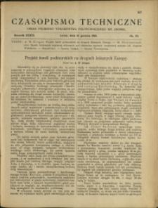 Czasopismo Techniczne : 1918 : nr 23