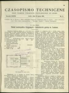 Czasopismo Techniczne : 1919 : nr 5