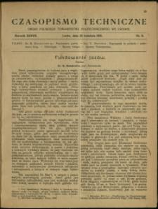 Czasopismo Techniczne : 1919 : nr 8