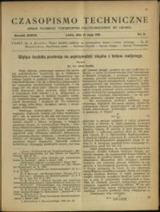 Czasopismo Techniczne : 1919 : nr 9