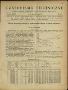 Czasopismo Techniczne : 1919 : nr 10