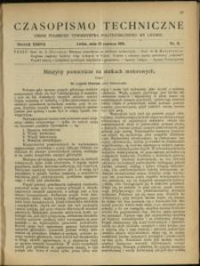 Czasopismo Techniczne : 1919 : nr 11