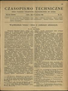 Czasopismo Techniczne : 1919 : nr 17