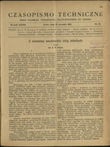 Czasopismo Techniczne : 1919 : nr 18