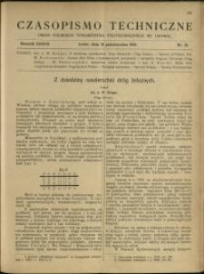 Czasopismo Techniczne : 1919 : nr 19