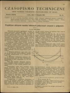 Czasopismo Techniczne : 1919 : nr 21