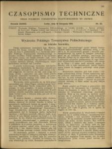 Czasopismo Techniczne : 1919 : nr 22
