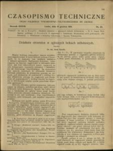 Czasopismo Techniczne : 1919 : nr 23