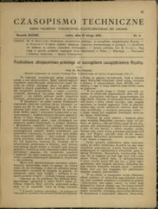 Czasopismo Techniczne : 1920 : nr 4