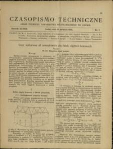 Czasopismo Techniczne : 1920 : nr 7