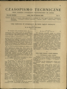 Czasopismo Techniczne : 1920 : nr 8