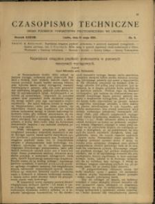 Czasopismo Techniczne : 1920 : nr 9
