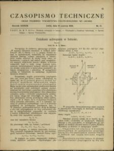 Czasopismo Techniczne : 1920 : nr 11