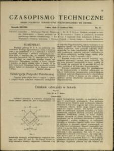 Czasopismo Techniczne : 1920 : nr 12