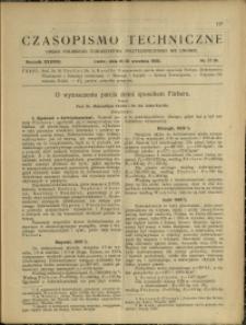 Czasopismo Techniczne : 1920 : nr 17 i 18