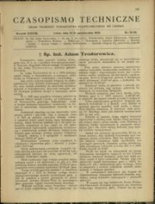 Czasopismo Techniczne : 1920 : nr 19 i 20