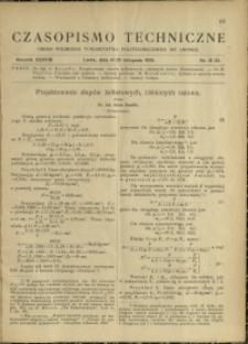 Czasopismo Techniczne : 1920 : nr 21 i 22