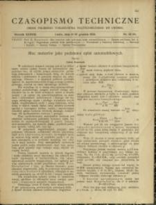 Czasopismo Techniczne : 1920 : nr 23 i 24