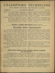 Czasopismo Techniczne : 1922 : nr 3 i 4