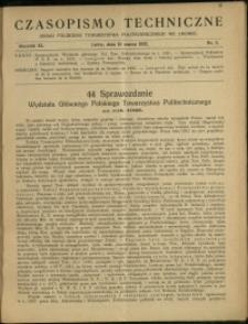 Czasopismo Techniczne : 1922 : nr 5