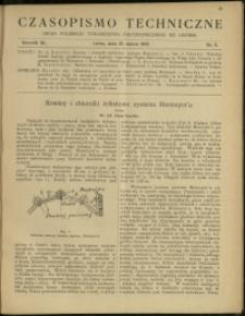 Czasopismo Techniczne : 1922 : nr 6
