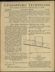 Czasopismo Techniczne : 1922 : nr 9 i 10