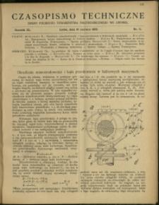 Czasopismo Techniczne : 1922 : nr 11