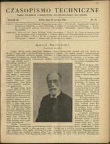 Czasopismo Techniczne : 1922 : nr 12