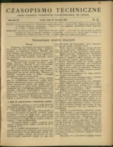 Czasopismo Techniczne : 1922 : nr 15