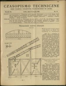 Czasopismo Techniczne : 1922 : nr 16