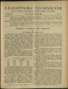Czasopismo Techniczne : 1922 : nr 17