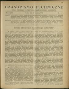 Czasopismo Techniczne : 1922 : nr 18