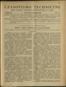 Czasopismo Techniczne : 1922 : nr 21