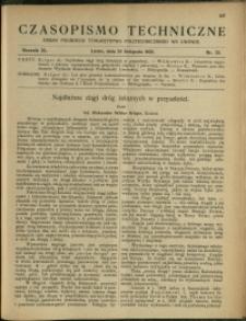 Czasopismo Techniczne : 1922 : nr 22