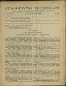 Czasopismo Techniczne : 1922 : nr 24