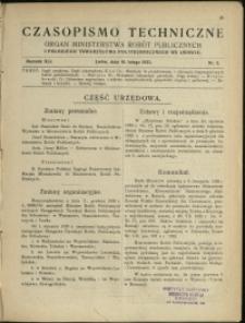Czasopismo Techniczne : 1923 : nr 3